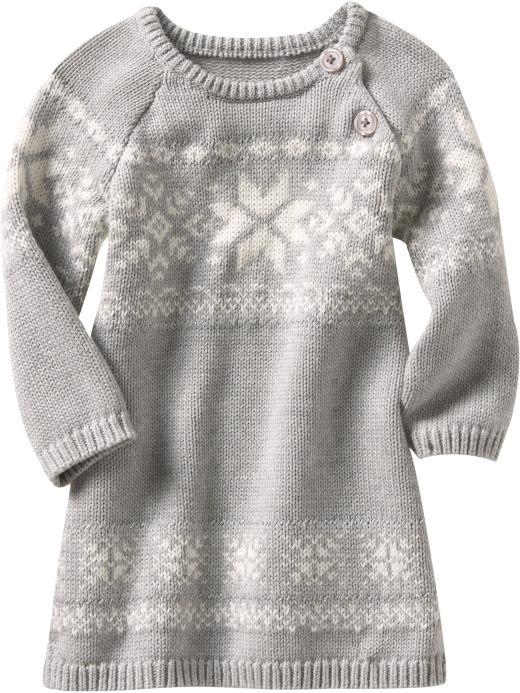 fair aisle baby sweater dress  7e12f0199e3d4