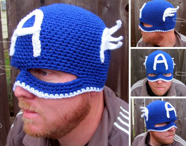 Crochet Captain America Hat And Mask
