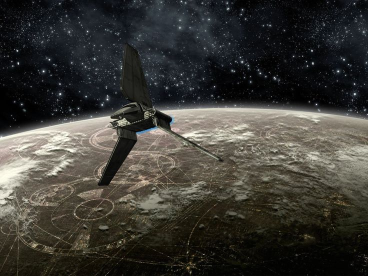 Películas La guerra de las galaxias  Lambda-class T-4a shuttle Fondo de Pantalla