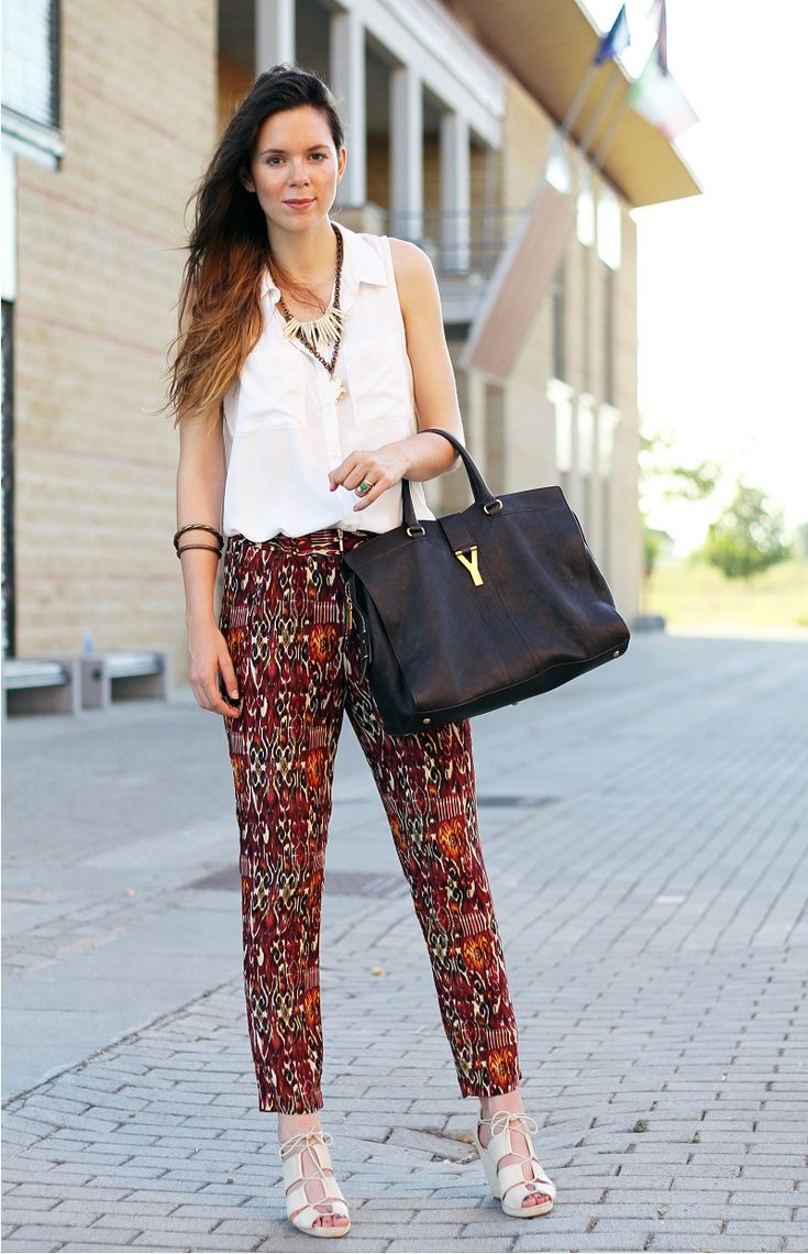 ethnic pants, pijama style for the fashion blogger irene's closet look pantaloni etnici, pijama style per il look della fashion blogger irene's closet