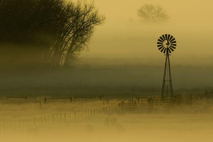 Windmill in the Morning Fog Photo and caption by Kurt Reinhart @Smithsonian Magazine
