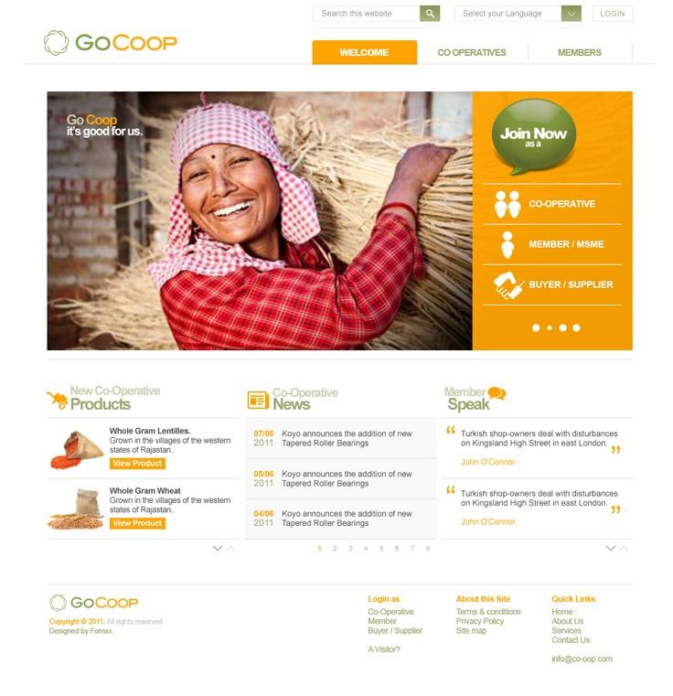 Fomax creative work for Gocoop