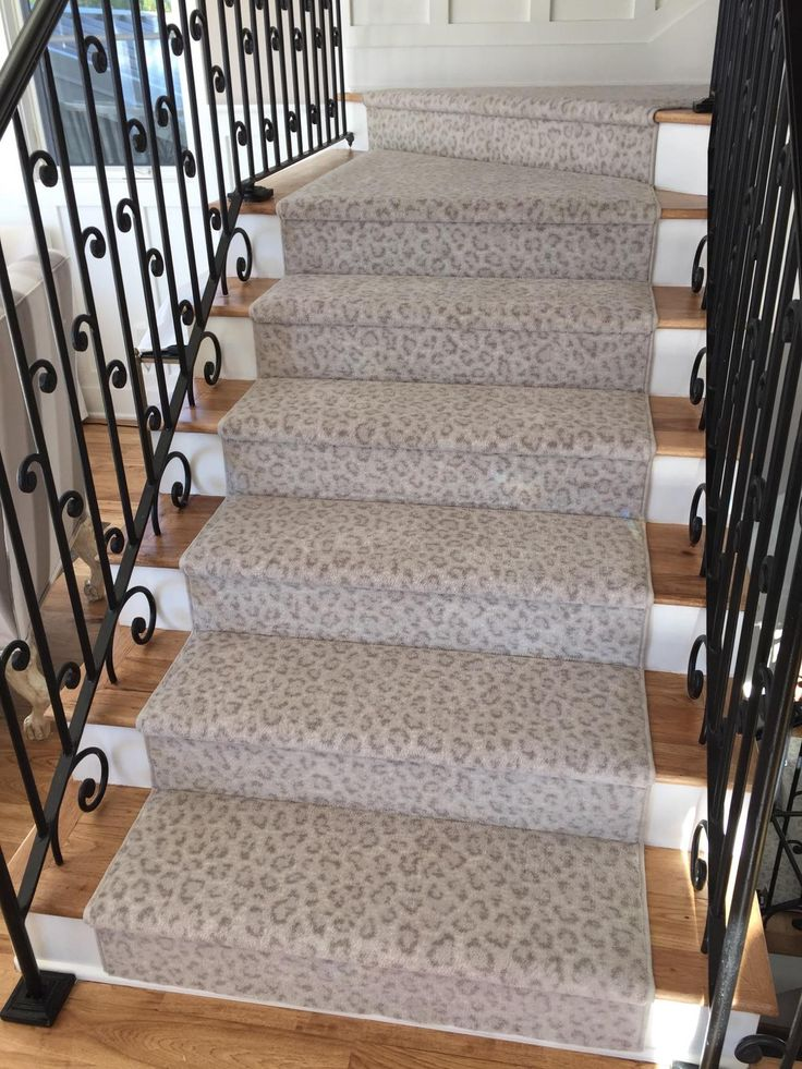 90 best images about stair runners on pinterest mesas for Leopard print carpet stair runner