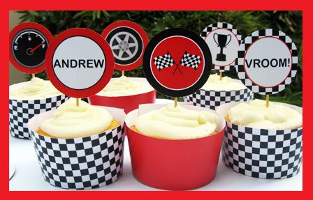 Instantly download my red Race Car Party Printables, Invitations & Decorations! Personalize the templates at home & get your Race Car Party started now!