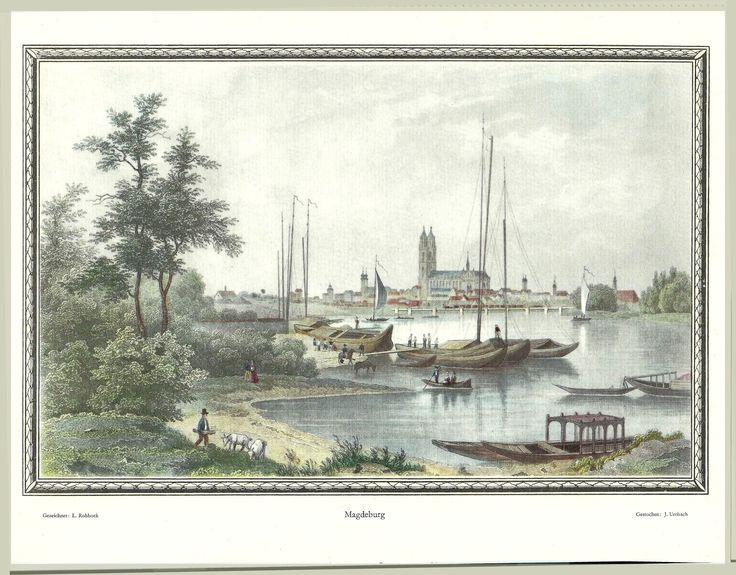 Magdeburg, altes Bild von Magdeburg, historisches Bild von Magdeburg, früher in Magdeburg