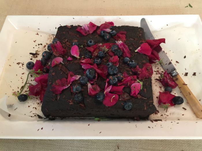 Black Sesame Chocolate Cake - by Jody Vassallo author of Beautiful Food