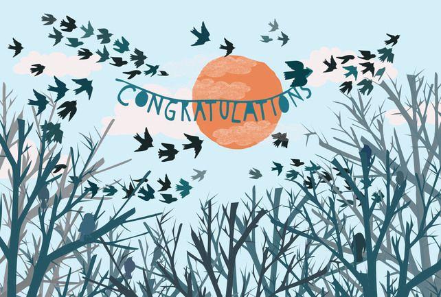'Congratulations' A6 Card £2.00