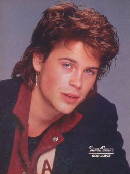 Pin By Dawn On Hot Guys Celebrities Mullets Rob Lowe