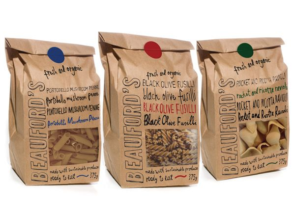 Beauford's Pasta Packaging Design by Sophie Durston, via Behance