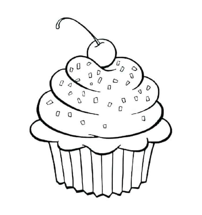 Printable Cupcake Coloring Pages Cupcake Coloring Pages Birthday Coloring Pages Princess Coloring Pages