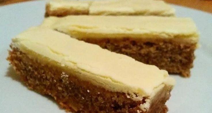 Božské ořechové řezy se žloutkovou polevou: Připravte jejich den předem, aby stihli ztuhnout a když je nakrájíte, na ostatní koláče se okamžitě zapomene!   - Part 2