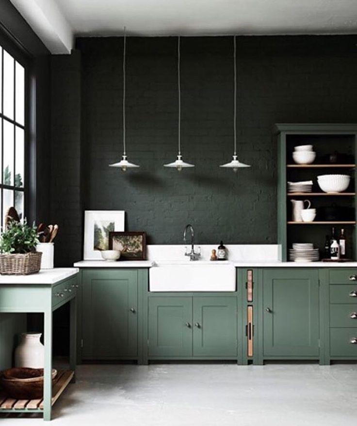 """Gefällt 19 Mal, 1 Kommentare - •Niloofar Yazdani• (@niloofar_yadzdani) auf Instagram: """"•Green kitchen • #kitchen #modernluxury #green #greenkitchen #niloofar_yazdani #art @homebymcg"""""""
