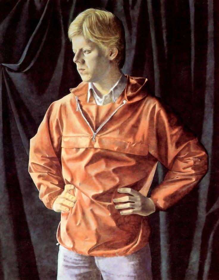 """Boy in Red Jacket"" Portrait of artist's son.   #art #realism #portrait #Canadian art # National Gallery"