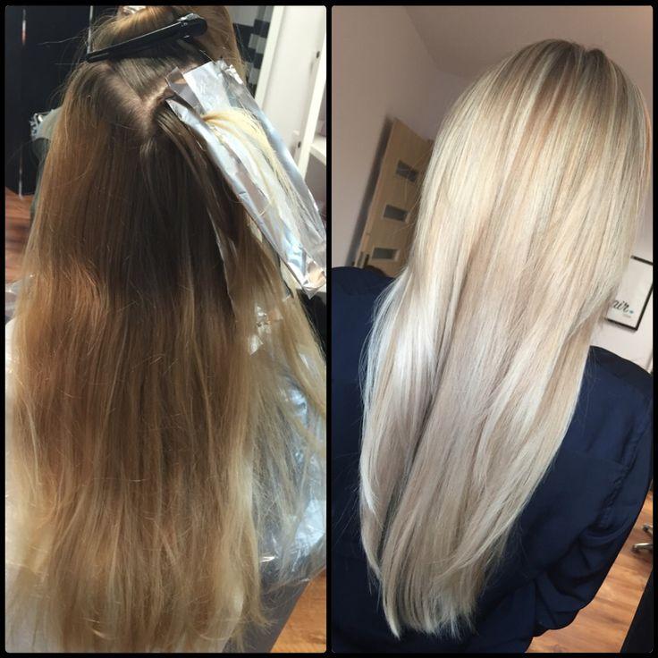 Blond Hair.  Change. Hairdresser  Passion work job