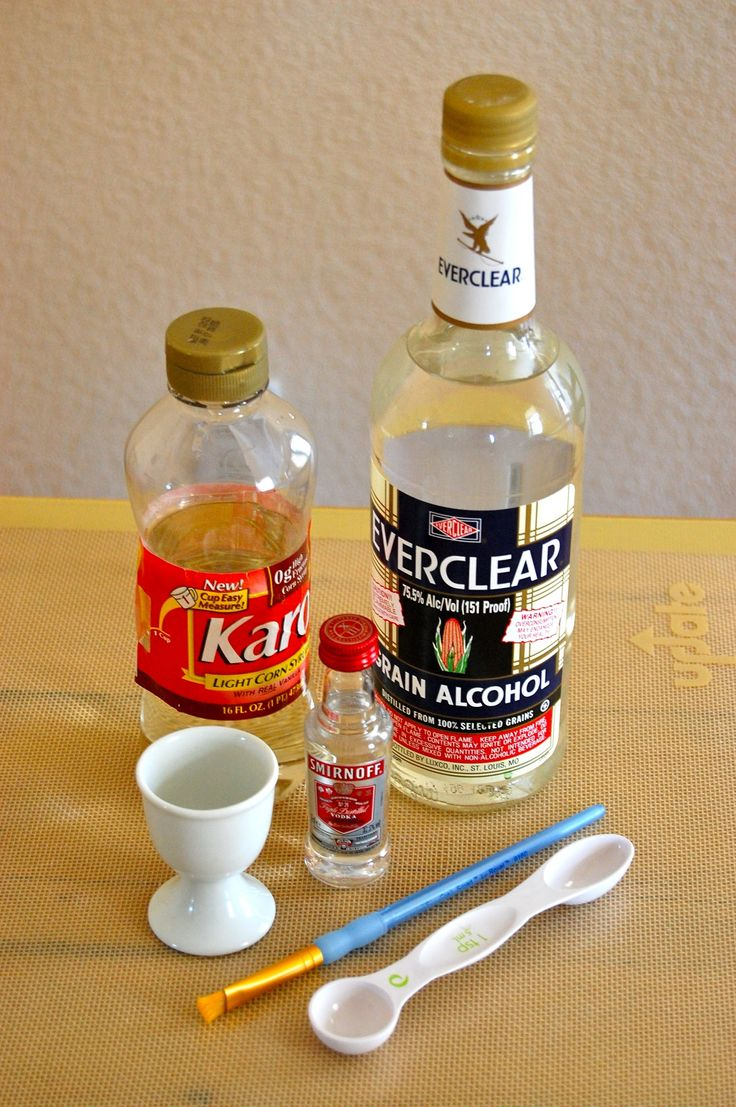 Bottles of Syrup, Oil, Paintbrush and Measuring Spoon