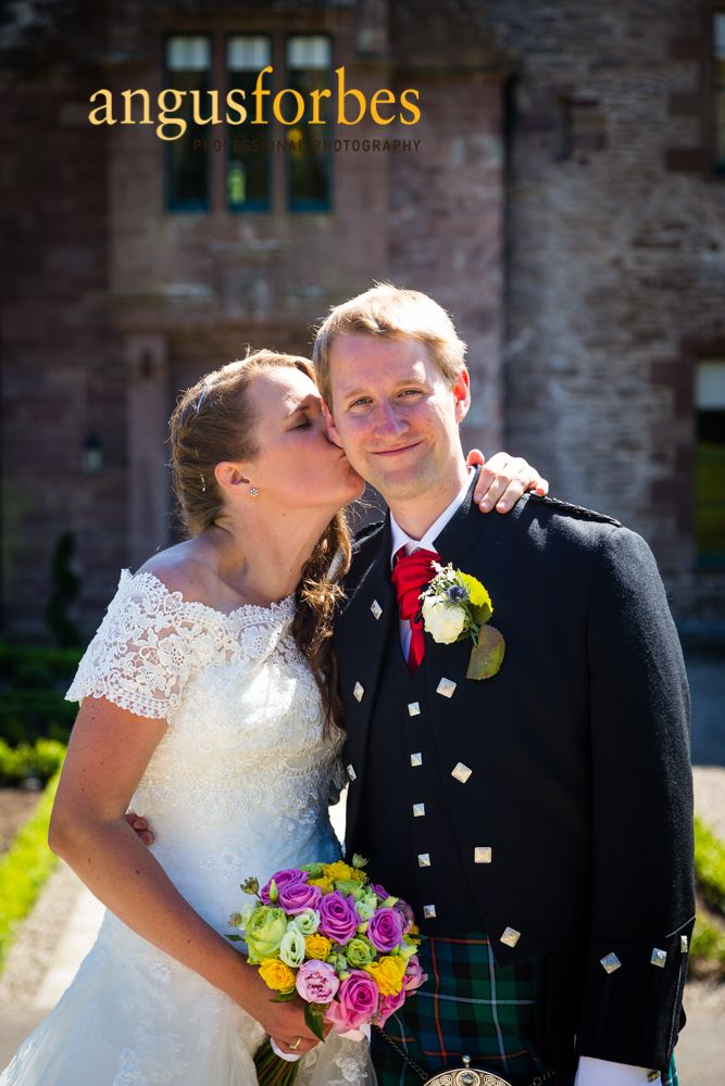 Wedding photography at Guthrie Castle by Angus Forbes
