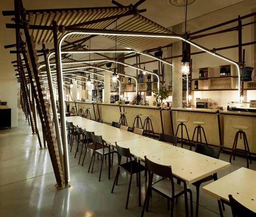 Foto: Le Café de la Panacée (France) 1024 architecture  Shortlisted project at the Restaurant and Bar Design Awards 2014 bit.ly/1tfYM4I