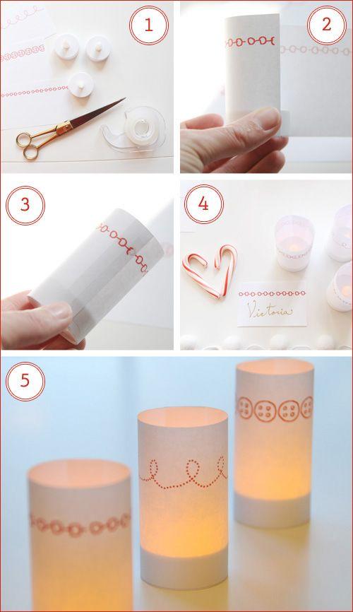 paper votive candle wraps