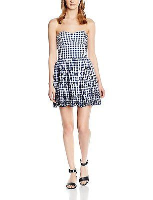 X-Small, Blue, Superdry Women's 50s Vintage Schiffli Dress NEW