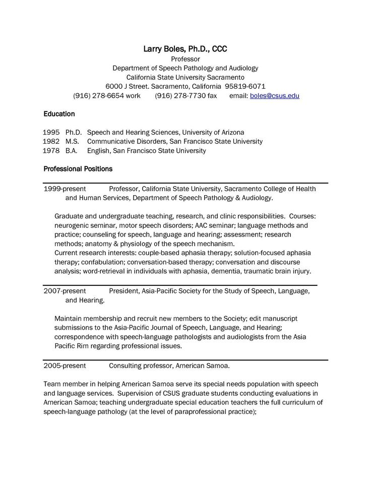 Speech Language Pathology Resume Lovely 8 Speech Language