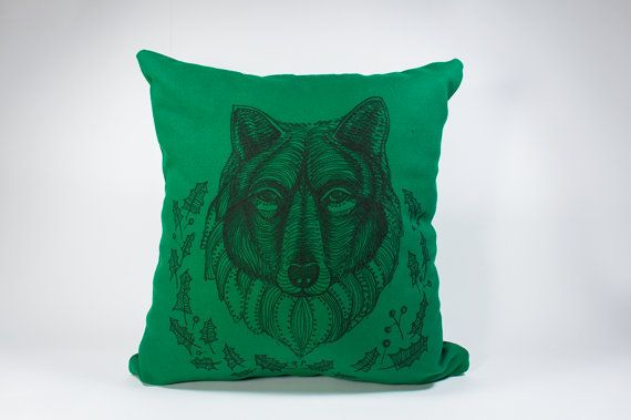 15 by 14 Hand-drawn illustration on pillow Hkuah by detcraft