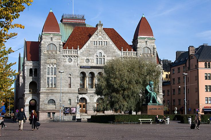 Suomen Kansallisteatteri perustettu vuonna1872. Helsinki Kuva Aili Alaiso