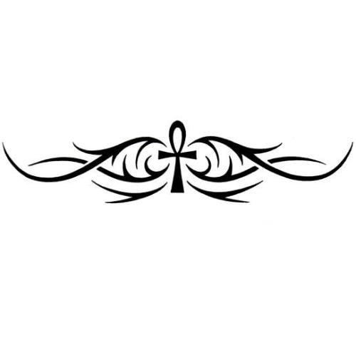 Ankh and Tribal Armband Tattoo Design - TattooWoo.com