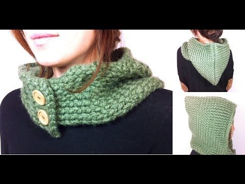 ▶ How to Loom Knit a Hooded Cowl (DIY Tutorial) - YouTube