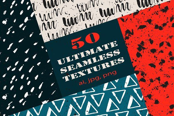 50 Ultimate seamless textures by Trigubova Art on @creativemarket