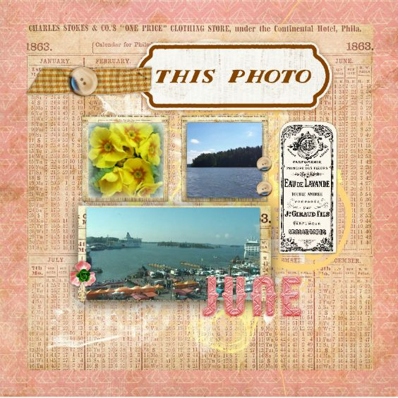Created with Template June, Adventure papers, Essentials elements by Little Butterfly Wings. June word art by Seatrout Scraps