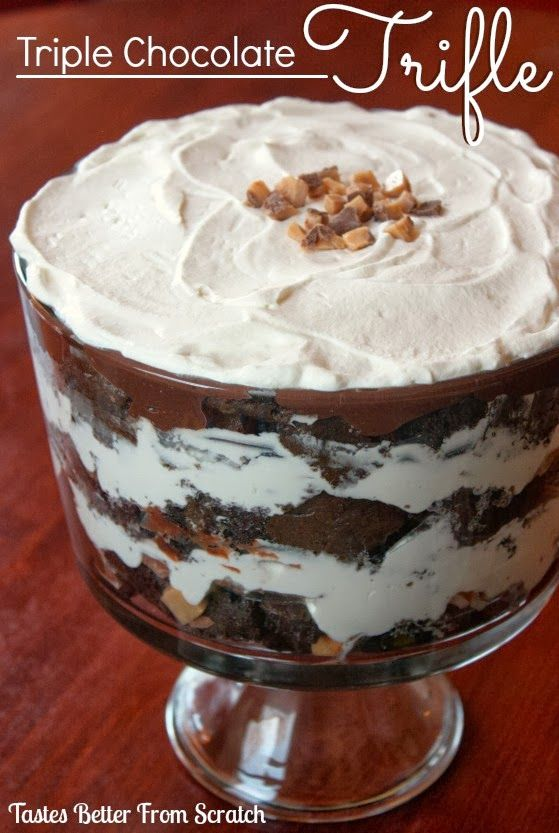 Triple Chocolate Trifle from TastesBetterfromScratch.com