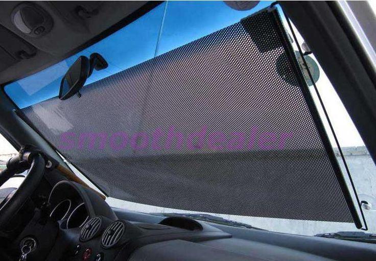 A31 Black 58 x125cm Car Auto Window Roll Blind Sunshade Windshield Sun Shield Visor Drop Shipping