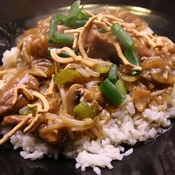 Chinese Pork Chow Mein Recipe... Ill substitute chicken or shrimp for the pork.