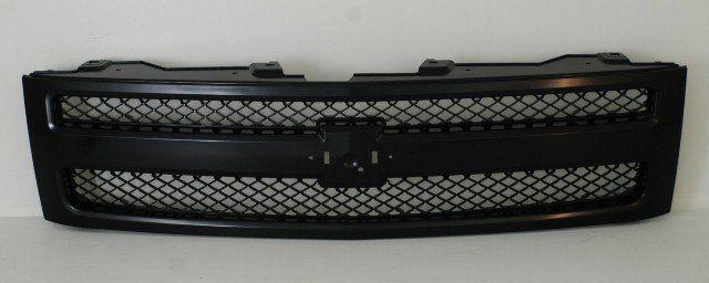 2007-2011 Chevy Silverado Pickup Grille Black