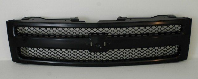 2007-2011 Chevy Silverado Pickup Grille Black