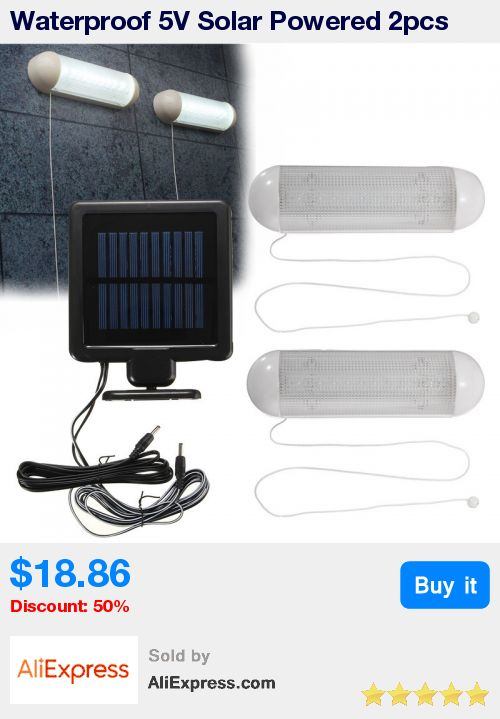 Waterproof 5V Solar Powered 2pcs LED Solar Light LED Outdoor Light Bulb Garage Shed Corridor Stable Cord Switch Lamp * Pub Date: 14:45 Apr 9 2017