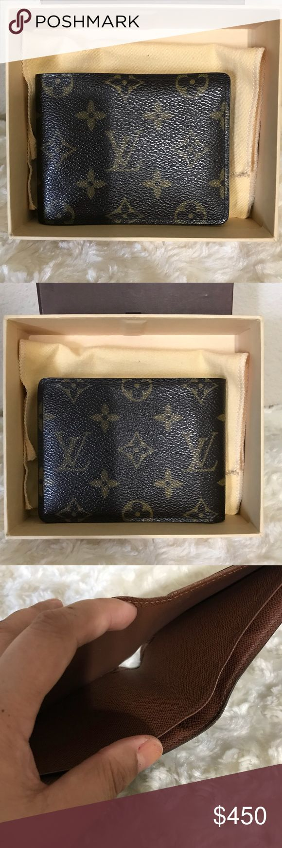 Louis vuitton mens wallet. Pre-owned 100 % Louis vuitton mens wallet. In good condition. Has sign of normal usage. One side its curly  No rip or tear. No foul smell Has 5 cc slot  Has 2 bills compartment no coins pocket. Date code RA0054 made in france. Please check all the pictures before purchasing. No ball offers no trade.❌❌❌ wallet. Louis Vuitton Bags Wallets