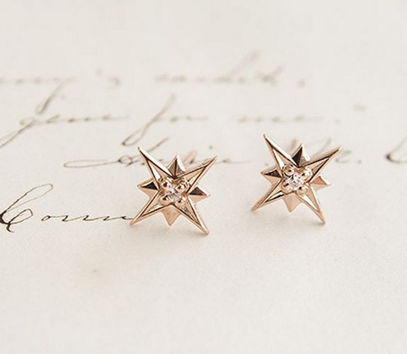 Compass Rose earrings - Erica Weiner c/o A Cup of Jo