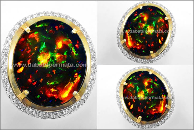 Super Kolektor Big Size BLACK OPAL ,Full Fire Super Top (Code : OP 069)