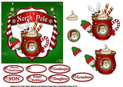 Santa s hot chocolate on Craftsuprint designed by Carol Smith – a decoupage shee…