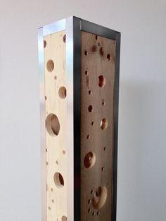 Articles similaires à Lampe design en bois de palette recyclé sur Etsy