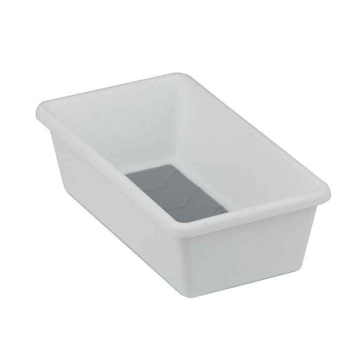 6.75 in. x 3.75 in. x 2 in. Plastic Tray with Rubber, White