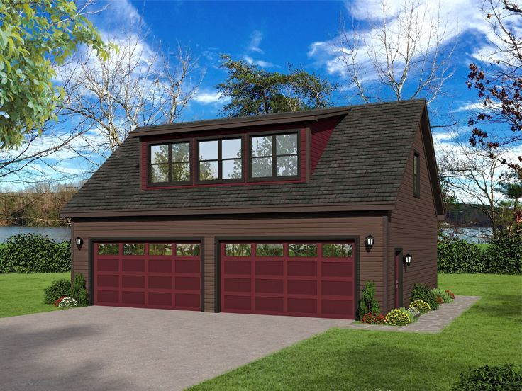 062g 0196 4 Car Garage With Loft 40 X30 Cottage House Plans House Plans Garage Plan