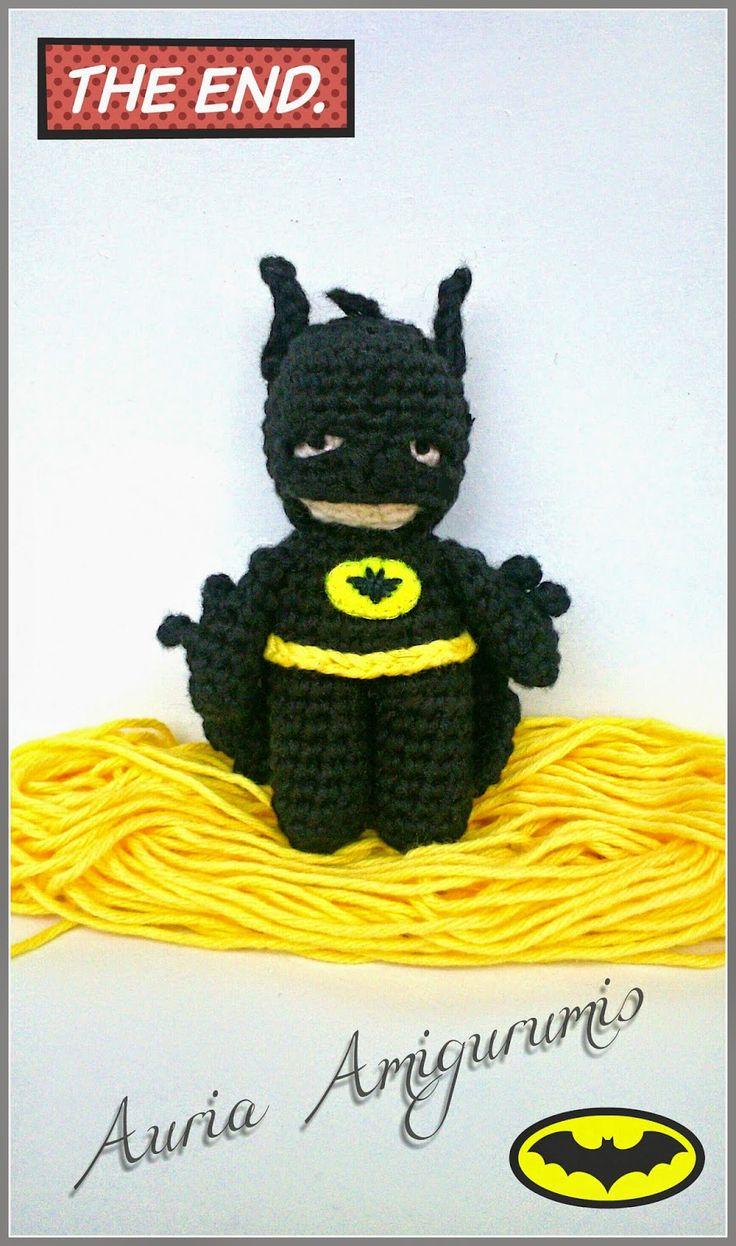 Batman, llavero amigurumi