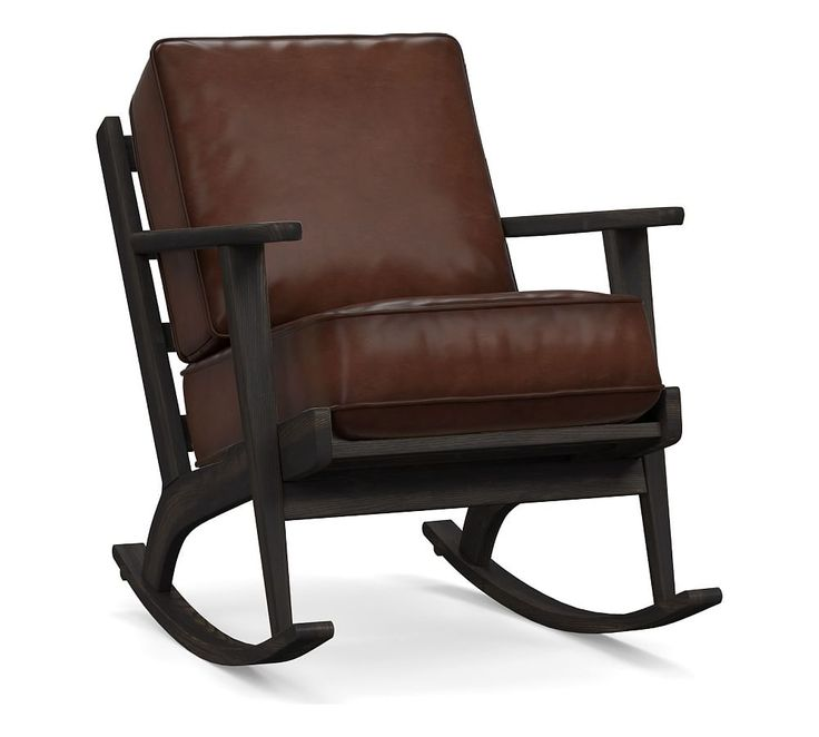 Raylan Leather Rocking Chair Rocking chair, Slipcovers
