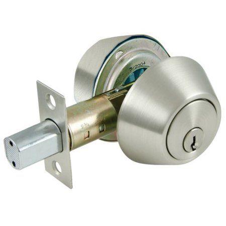 ultra satin nickel double cylinder deadbolt lock multicolor