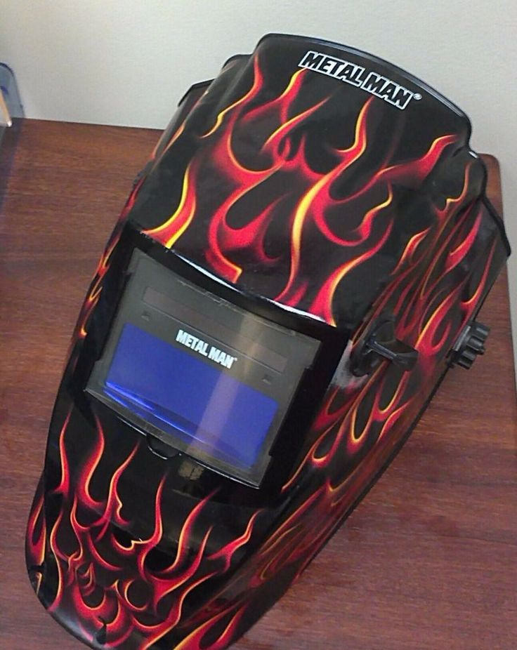 Metal Man Real Flame Auto-Darkening Welding Helmet #MetalMan