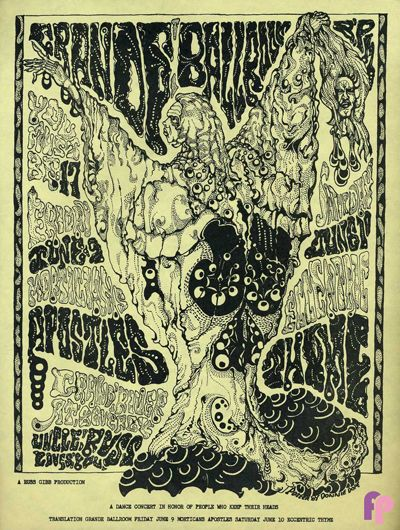 Grande Ballroom 6/9 & 10/67 Artist:  Donnie Dope     Performers:  Morticians  Apostles  Thyme