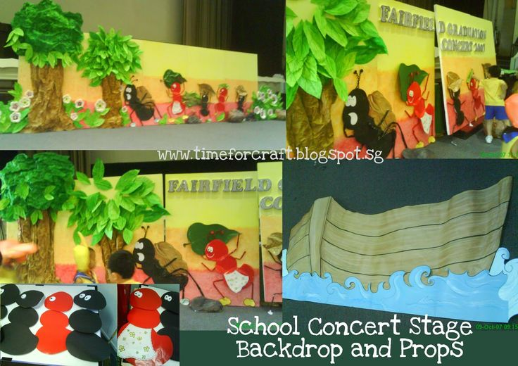 DIY School Concert Stage Backdrop and props! www ...