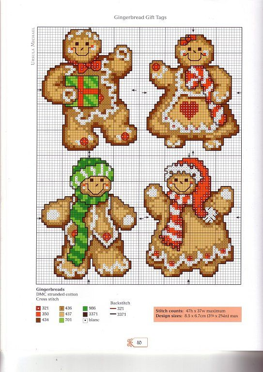 Cross-stitch Gingerbread